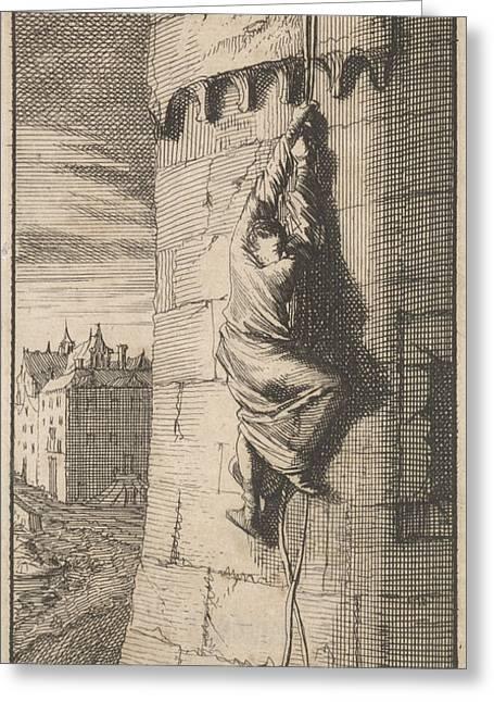 Escape Of The Duke Of Beaufort, 1648, Caspar Luyken Greeting Card by Caspar Luyken And Boudewijn Van Der Aa