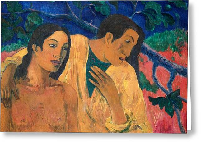 Escape Greeting Card by Paul Gauguin