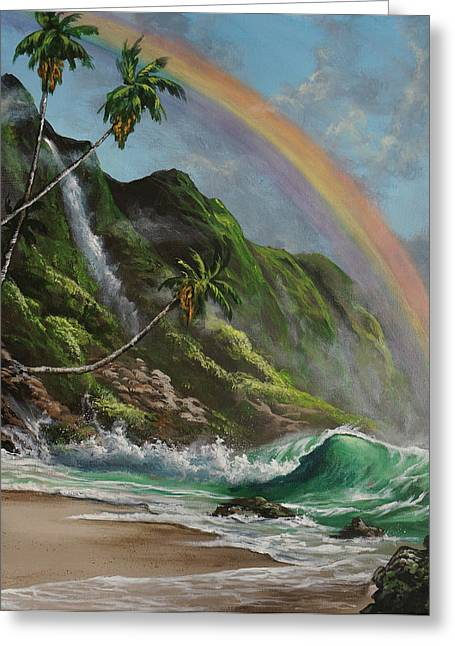 Escape To Paradise Greeting Card by Marco Antonio Aguilar