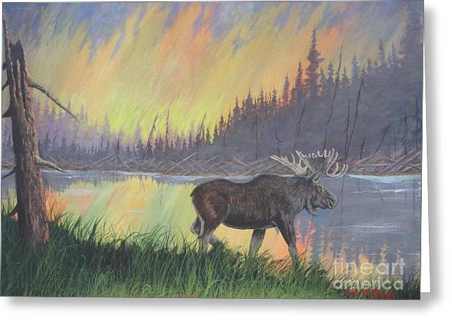 Escaping The Yellowstone Fires Greeting Card