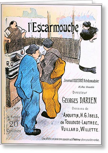 Escaramouche Greeting Card by Charlie Ross