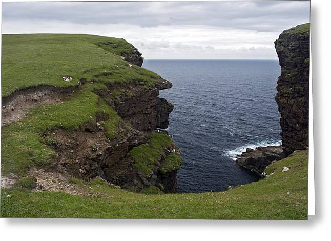Eshaness Cliffs Greeting Card by Steve Watson