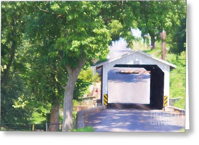 Eshelman's Mill Bridge Greeting Card by Terry Weaver