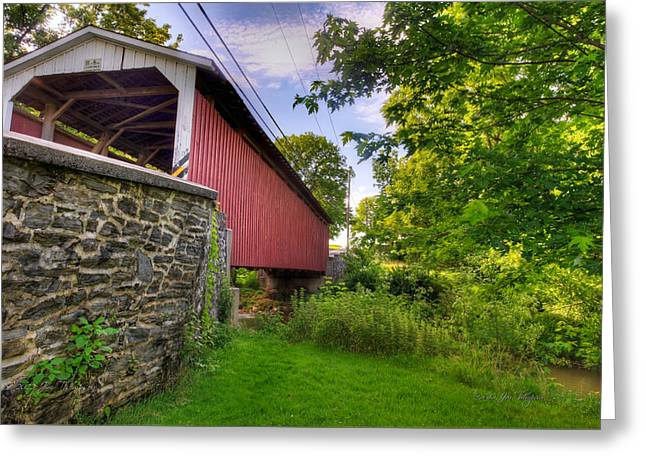 Greeting Card featuring the photograph Eshelman's Mill Covered Bridge by Jim Thompson