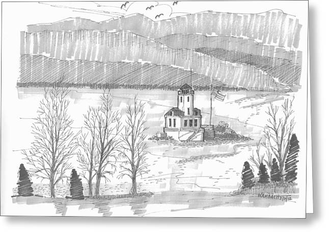 Esopus Lighthouse Greeting Card