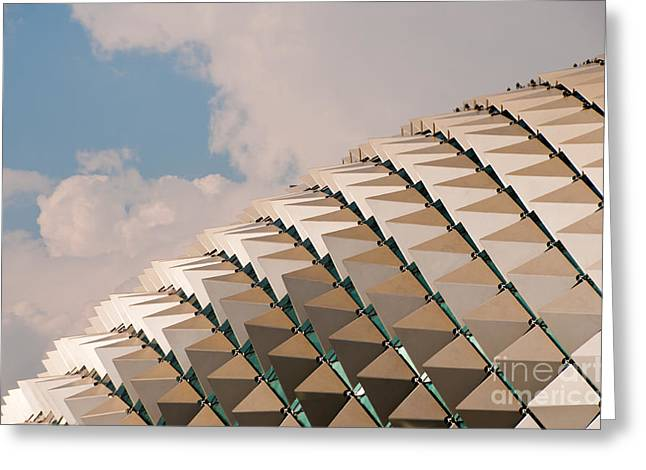 Esplanade Theatres Roof 01 Greeting Card by Rick Piper Photography