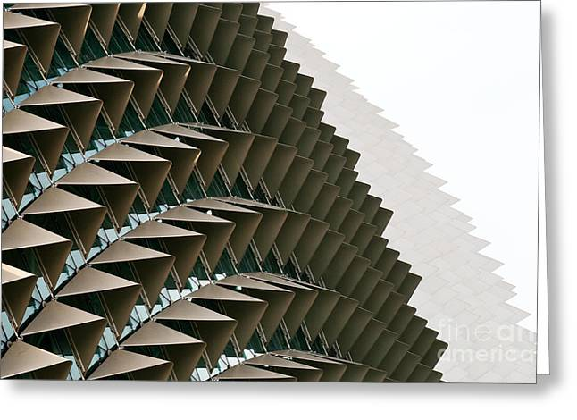 Esplanade Theatres Roof 09 Greeting Card by Rick Piper Photography