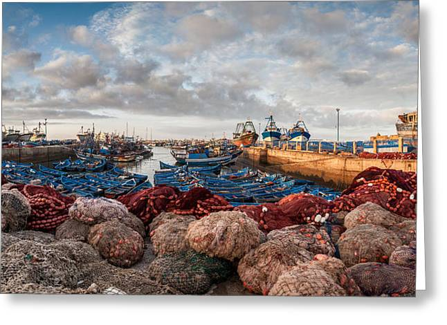 Essaouira Harbour Greeting Card by Michael Avory