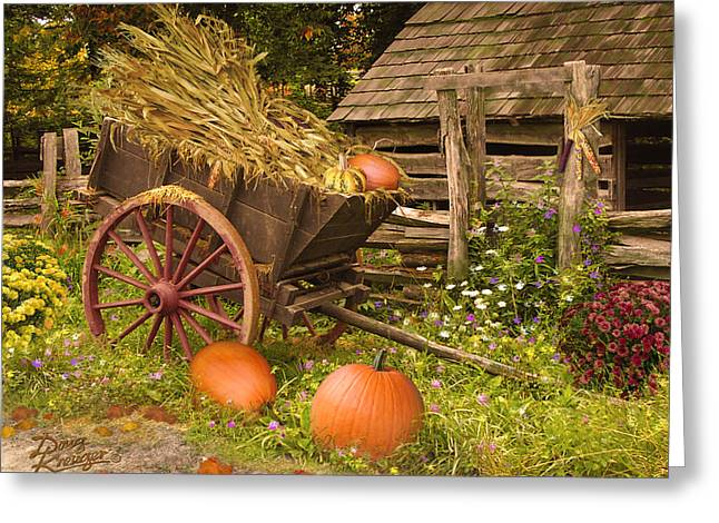 Essence Of Autumn  Greeting Card