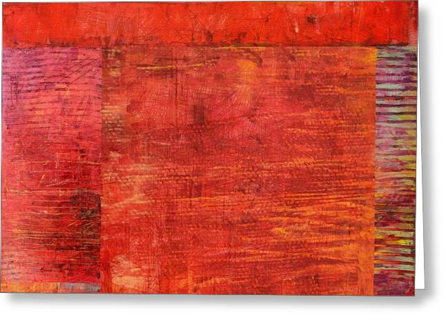 Essence Of Red Greeting Card by Michelle Calkins