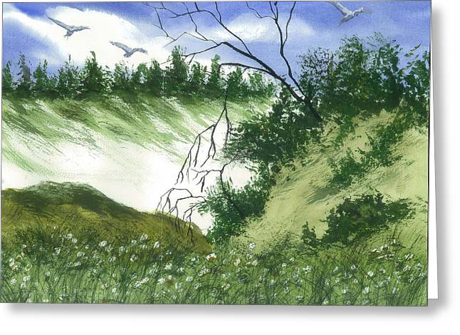 Essence Of The Coast  Greeting Card by Karen  Condron