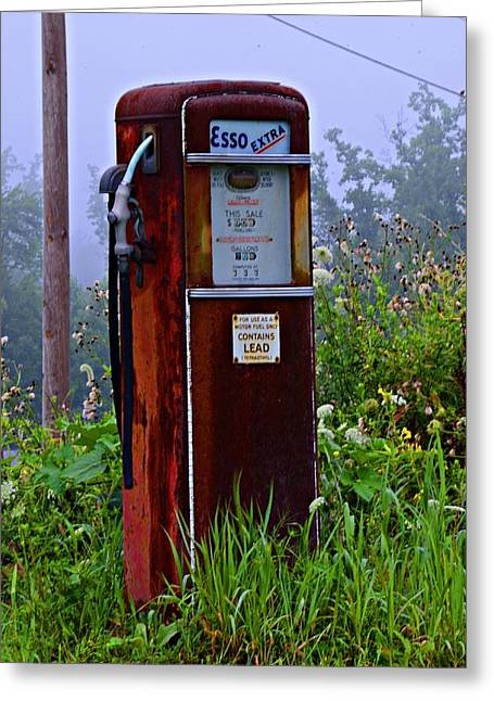 Esso Extra Greeting Card by Bill Cannon