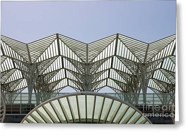 Estacao Do Oriente's Roofs Greeting Card by Luis Abrantes