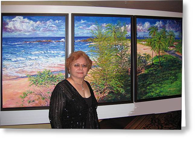 Estela Robles With Fishermens Paradise Greeting Card