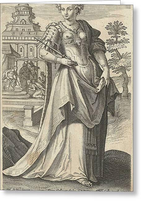 Ester, Jan Collaert II, Philips Galle, Cornelis Kiliaan Greeting Card by Jan Collaert (ii) And Philips Galle And Cornelis Kiliaan