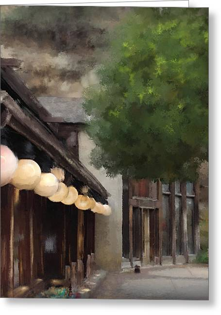 Estes Park Downtown Greeting Card by Patricia Lintner