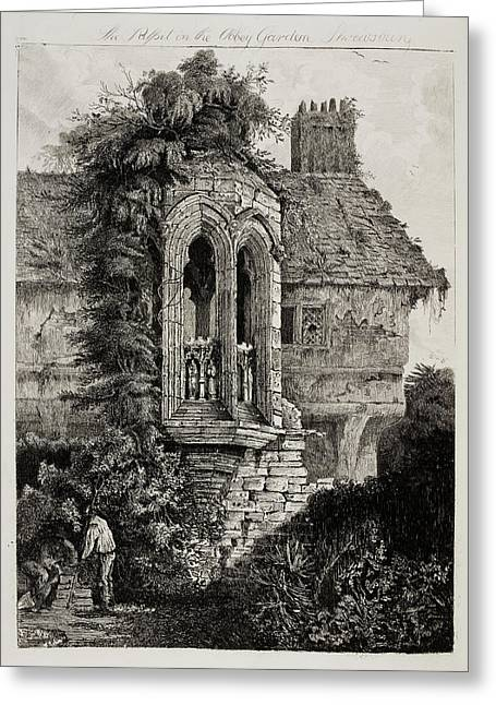 Etchings Of Ancient Buildings Greeting Card by British Library