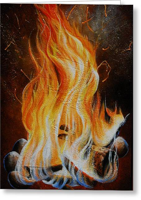 Eternal Fire Greeting Card