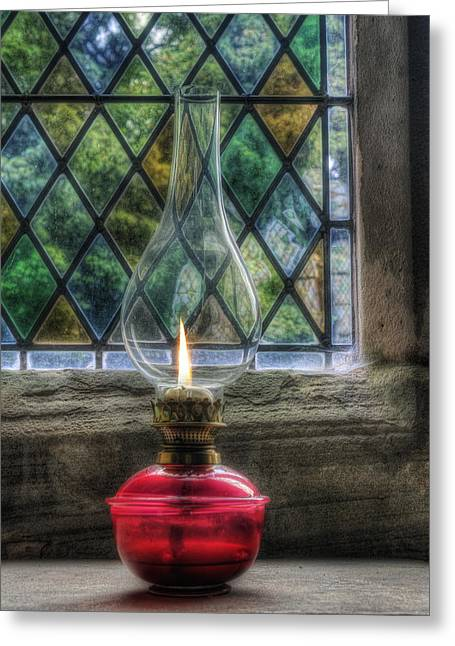 Eternal Flame Greeting Card by Ian Mitchell