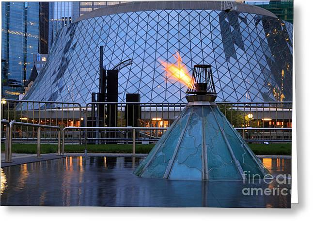 Eternal Flame Of Hope Greeting Card by Charline Xia