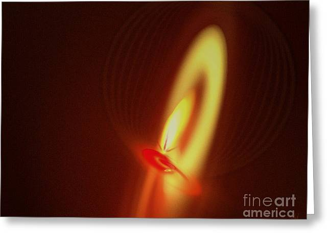 Greeting Card featuring the digital art Eternal Flame by Victoria Harrington