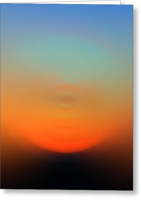 Eternal Light - Energy Art By Sharon Cummings Greeting Card
