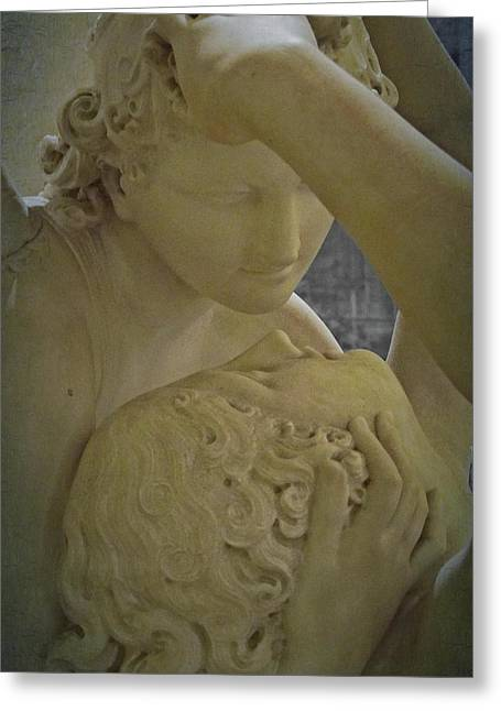 Eternal Love - Psyche Revived By Cupid's Kiss - Louvre - Paris Greeting Card by Marianna Mills