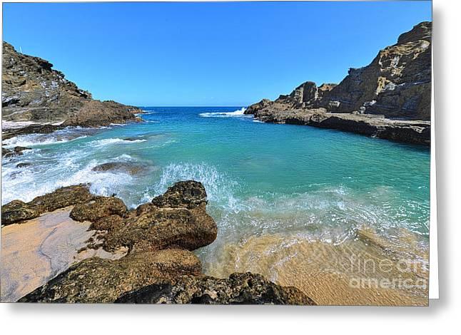 Eternity Beach Splash Greeting Card by Aloha Art