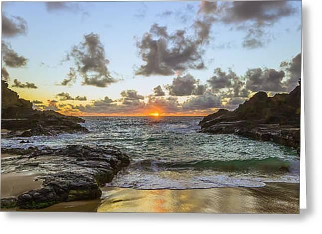 Eternity Beach Sunrise 3 To 1 Ratio Greeting Card by Aloha Art