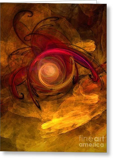Eternity Of Being-abstract Expressionism Greeting Card by Karin Kuhlmann