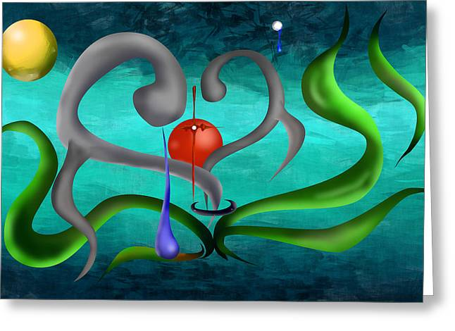 Eternity Of The Soul Greeting Card by M Hammami