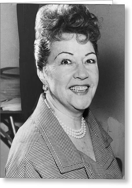 Ethel Merman 1953 Greeting Card by Mountain Dreams