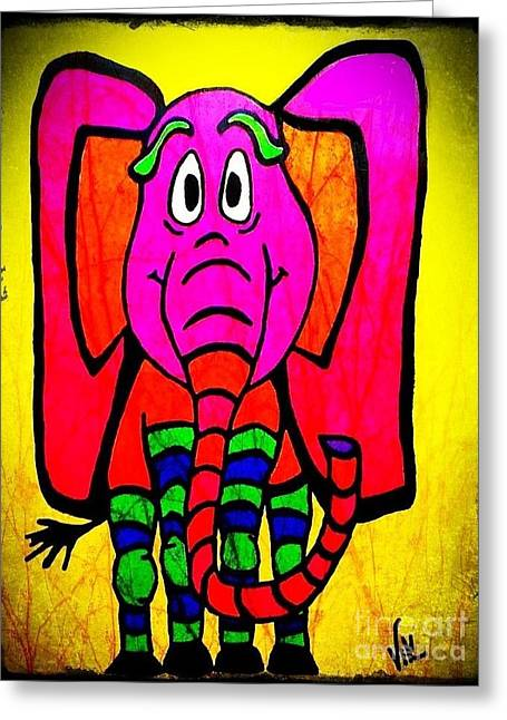 Ethel The Elephant Greeting Card