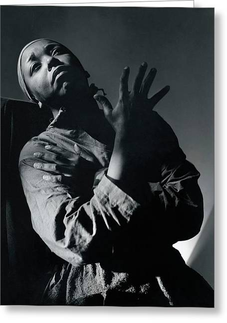 Ethel Waters As Hagar In Mambas Daughters Greeting Card by Horst P. Horst
