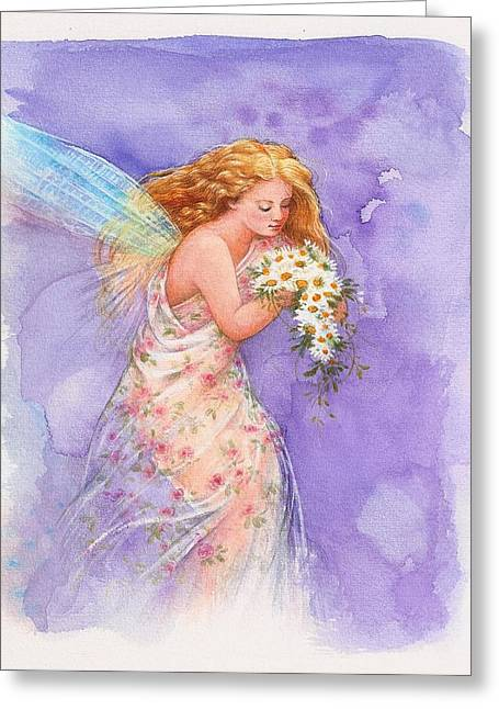 Ethereal Daisy Flower Fairy Greeting Card