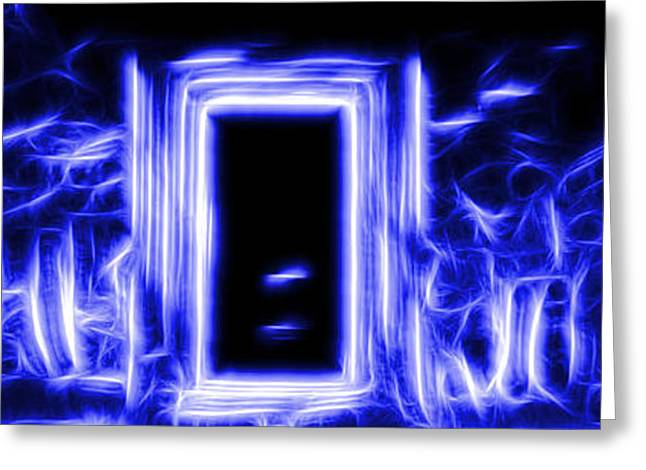 Ethereal Doorways Blue Greeting Card