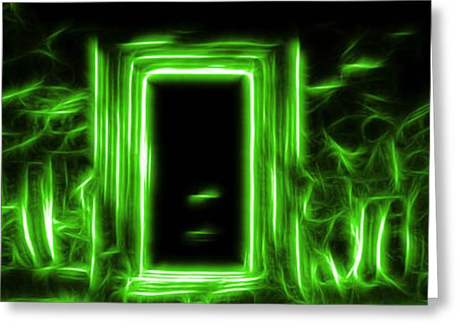 Ethereal Doorways Green Greeting Card