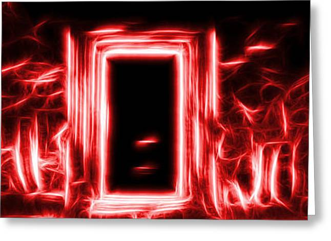 Ethereal Doorways Red Greeting Card