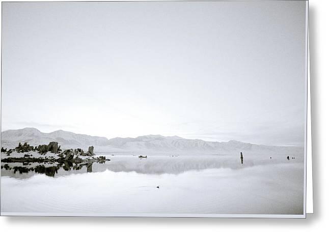Ethereal Mono Lake Greeting Card by Shaun Higson