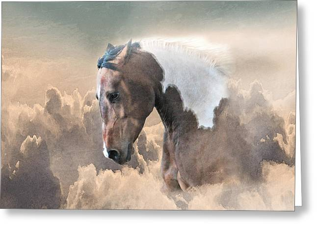 Ethereal Paint Horse Power Greeting Card by Renee Forth-Fukumoto