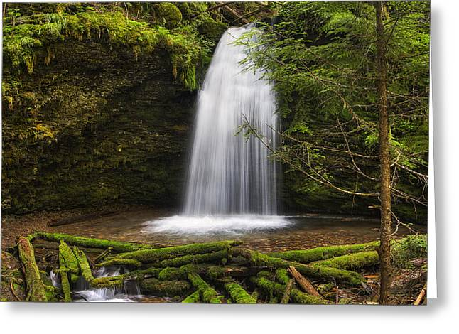 Ethereal Shadow Falls Greeting Card by Mark Kiver
