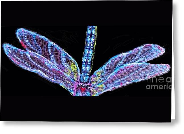 Ethereal Wings Of Blue Greeting Card
