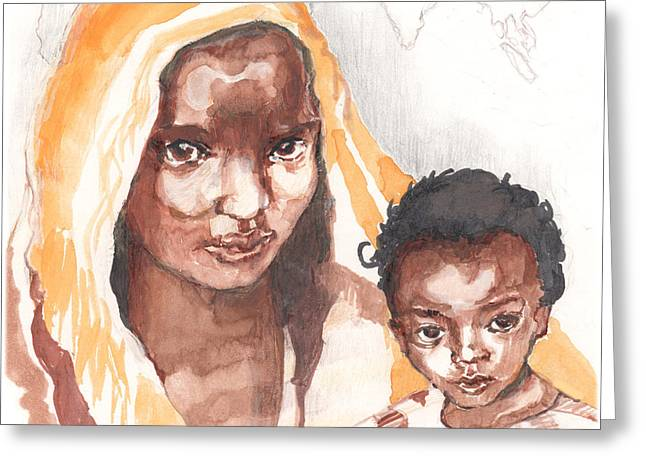 Ethiopean Mother And Child Greeting Card