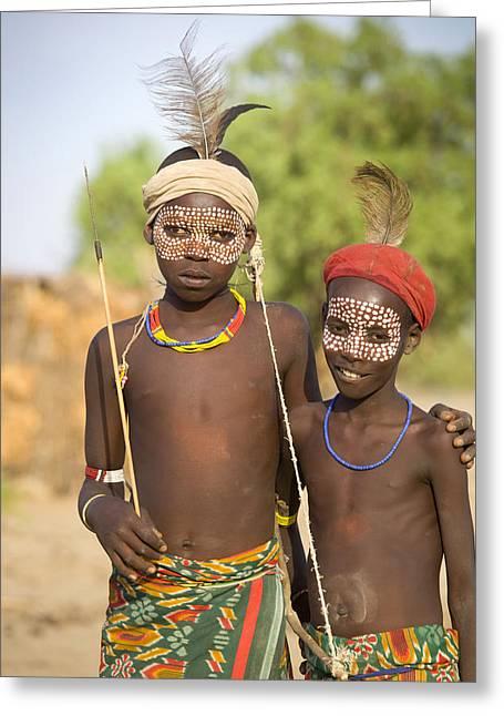 Ethiopia Boys Greeting Card