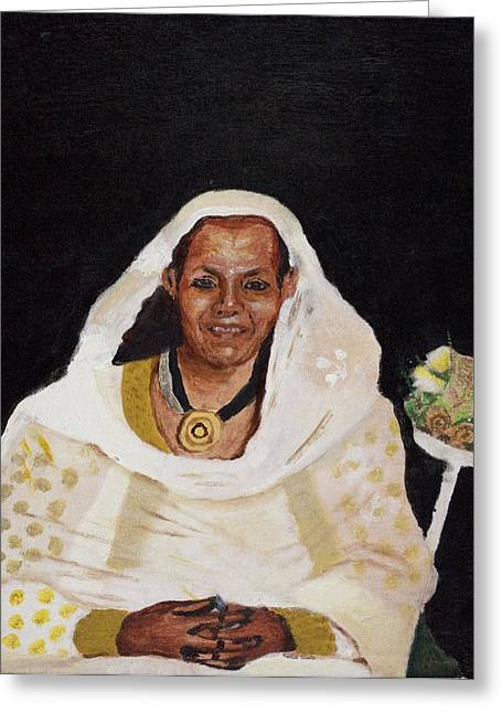 Ethiopian Woman Greeting Card by Jeremy Phelps