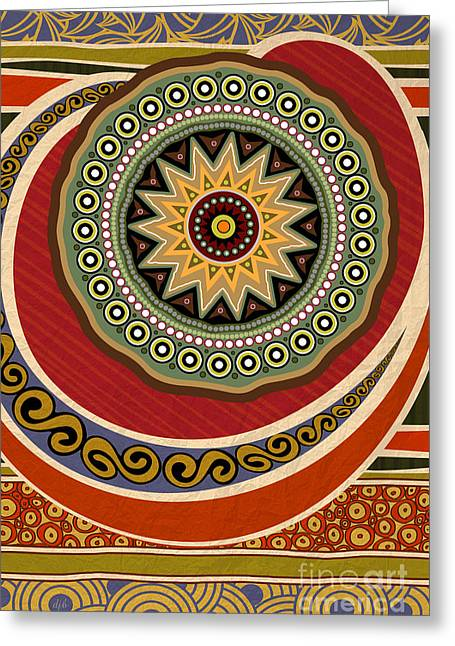 Ethnic Elegance Greeting Card by Bedros Awak