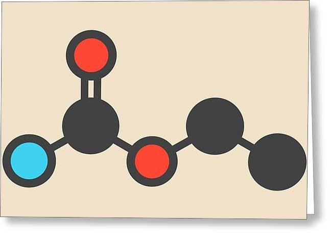 Ethyl Carbamate Carcinogenic Molecule Greeting Card by Molekuul