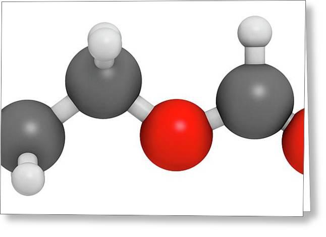 Ethylhexyl Triazone Sunscreen Molecule Greeting Card by Molekuul