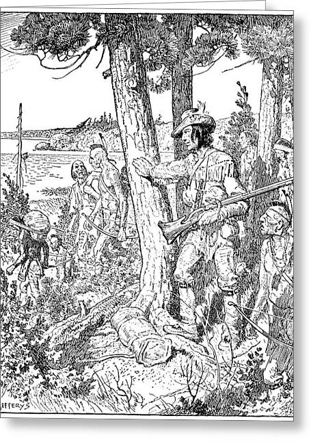 Etienne Brul� (c1592-1633) Greeting Card by Granger