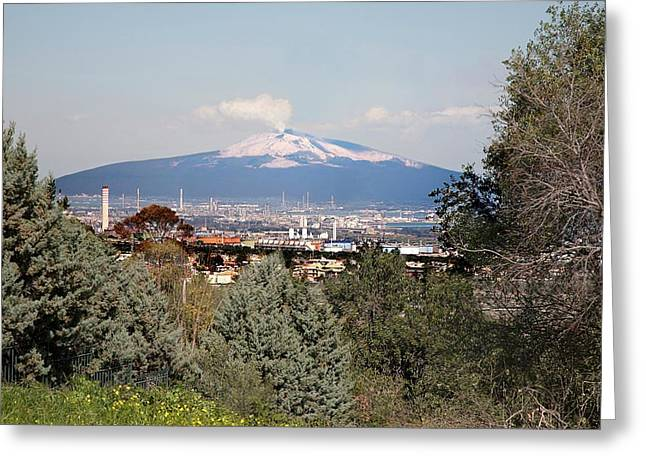 Etna And Industry Greeting Card